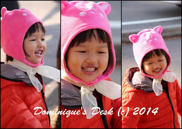 Tiger girl smiling