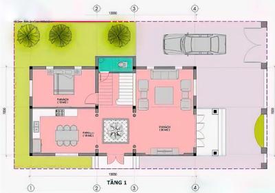 Thiết kế biệt thự tân cổ điển với mặt tiền 7m tại Hà Nội