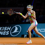 STUTTGART, GERMANY - APRIL 20 : Kristina Mladenovic in action at the 2016 Porsche Tennis Grand Prix