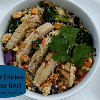 Sesame Chicken Couscous Bowl.