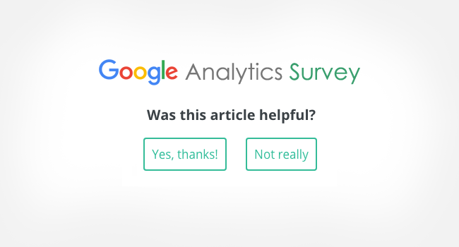 Was this article Google Analytics