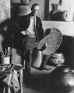 Ernest L Blumenschein in Taos