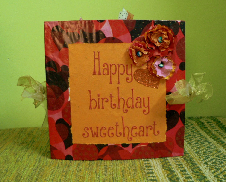 Juhis Handmade Cards Romantic Birthday Card