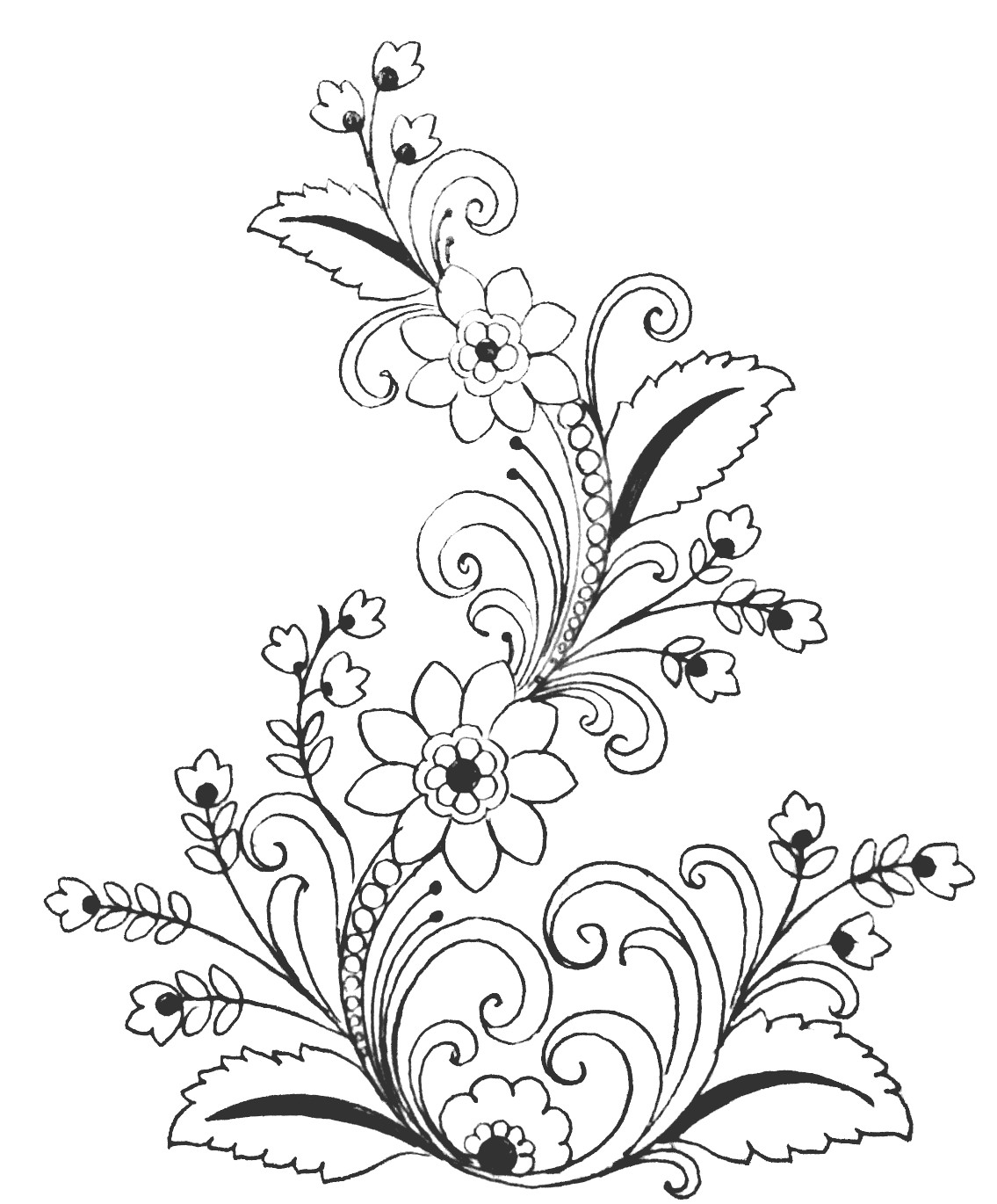 Embroidery sarees designs images free download 2020/ hand embroidery flowers designs drawing easy to pencil