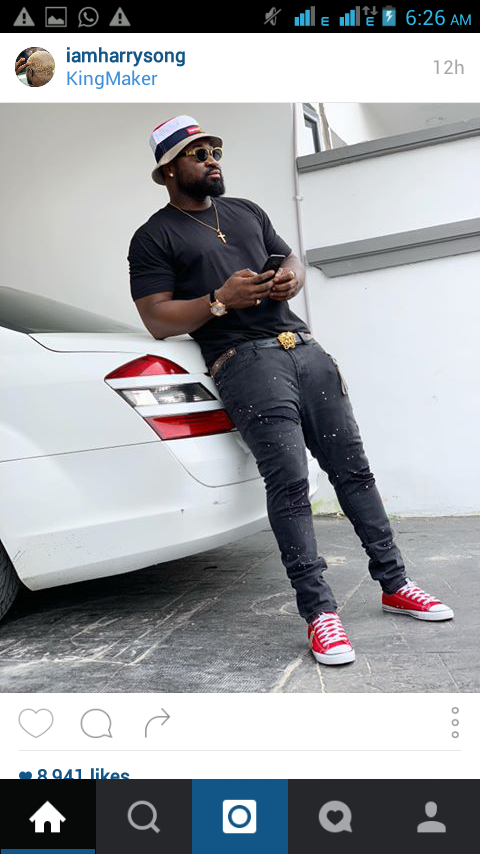 Harrysong pictured in new shots