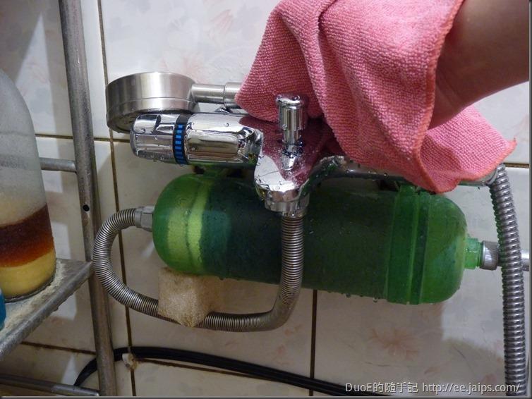 浴室龍頭擦拭前