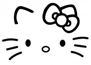 Hello kitty face and ears