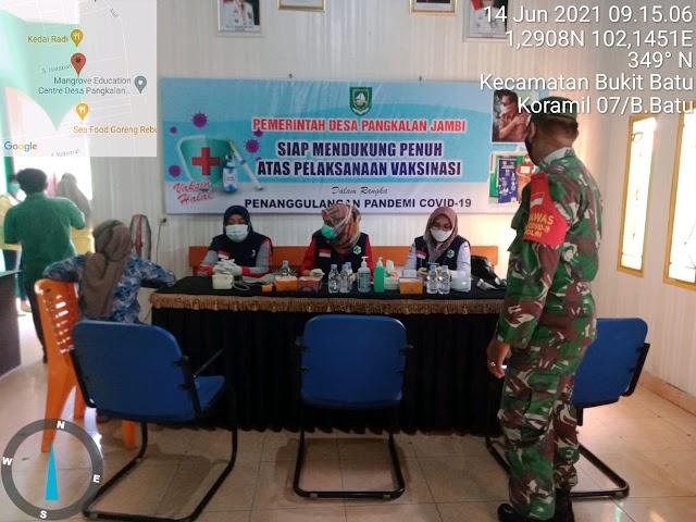 Serda Gunawan Tinjau Pelaksana Vaksinasi Covid-19 UPT Sungai Pakning