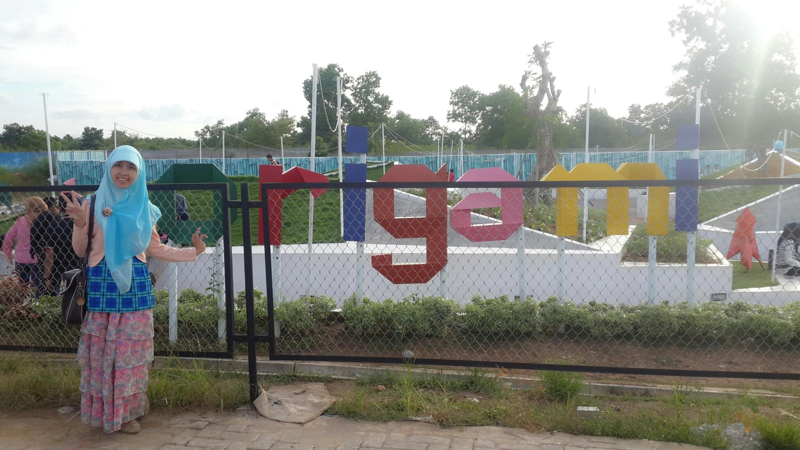 Rindang Yuliani Taman Origami Banjarbaru