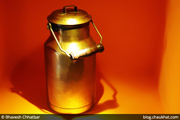 Antique milk can at Savya Rasa [Koregaon Park, Pune]