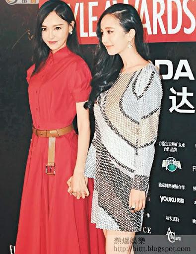 內地女星唐嫣(左)出言力撐好姊妹。