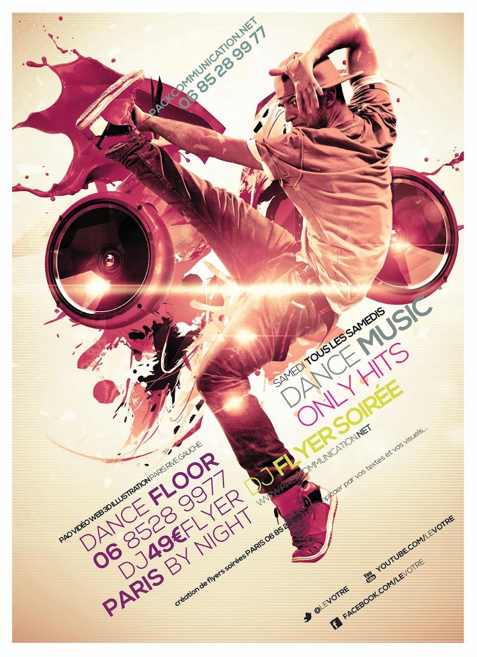 création flyers soirées thème Dance Floor