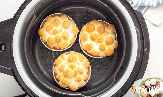 Air Fryer Smores Pie Recipe cooked