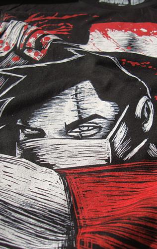 butcher, horror tee, hot topic shirt, blood art, horror anime, horror astroboy, knife clever, clever shirt, akumaink