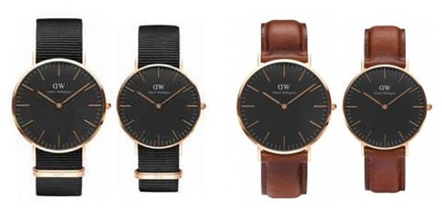 Arloji Daniel Wellington Couple Set