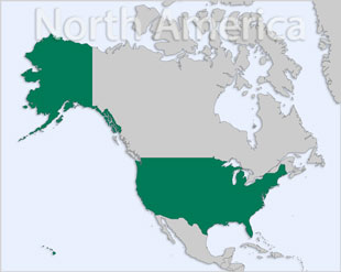 United States location map