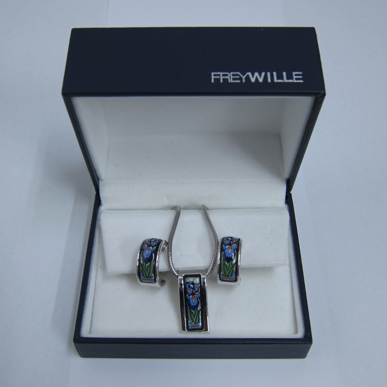 Frey Wille Pendant Hommage A Claude Monet Necklace And Earring Set