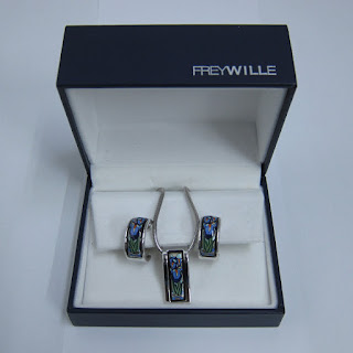 Frey Wille Pendant Hommage à Claude Monet Necklace and Earring Set
