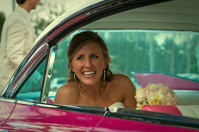Bride in Getaway Car