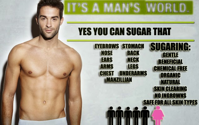 Why Yes! Men can use sugaring too! And your partner will thank you for it! Hey guys, here's a sweet and less painful way of getting rid of your unwanted excess body hair!