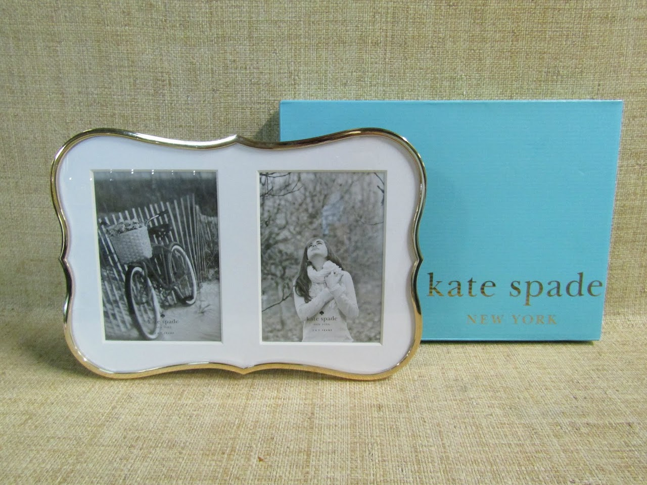 Kate Spade + Lenox Crown Point Gold Double Invitation Frame