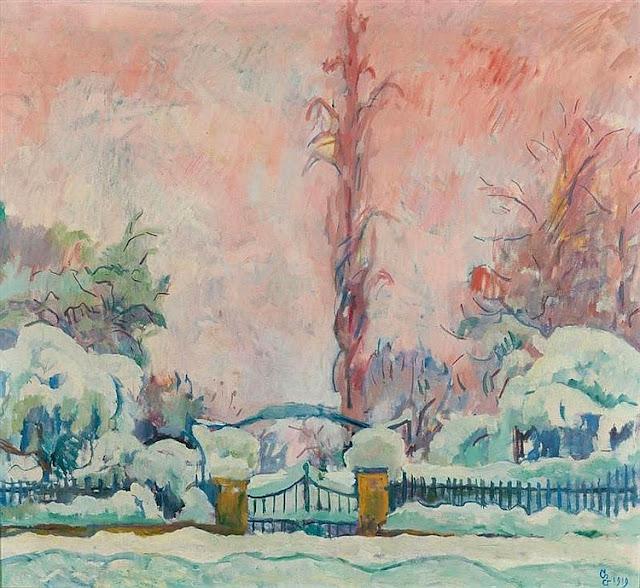 Giovanni Giacometti - Nevicata, Schneefall. 1919. (snowfall)