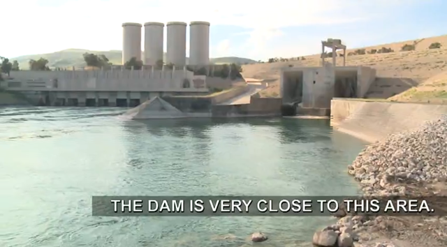 The troubled Mosul dam near Wana, Iraq, which U.S. officials warn is in danger of failing and which could kill between 500,000 and 1.47 million people. Photo: NBC News