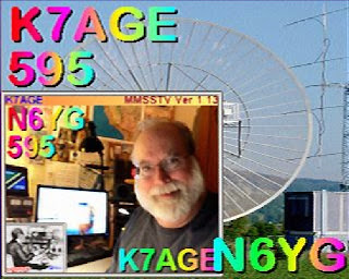 Randy Hall K7AGE on the River City ARCS SSTV Net