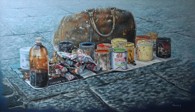Alla prima, pintura de Pedro Vergara