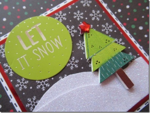 Black Let It Snow Card