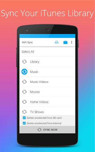iSyncr: Sync iTunes to Android  screenshots 2