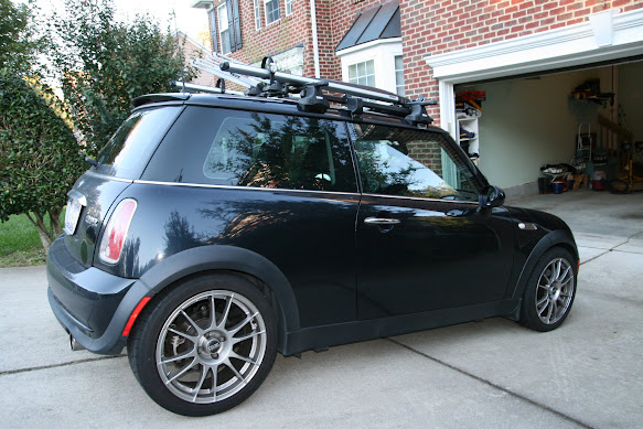 black metallic mini cooper