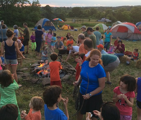 around the campfire Hopewell Campout 2016 by Jay Watson