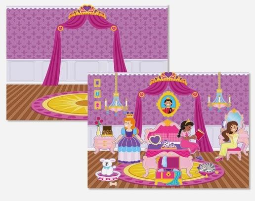 Căn phòng của công chúa được tạo nên từ sách sticker Cung điện hoàng gia ME4306