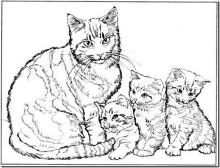 gato a colorear pintaryjugar  (11)