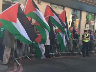BDS manifeste en Ecosse contre les «crimes de guerre» commis par les israéliens en Palestine