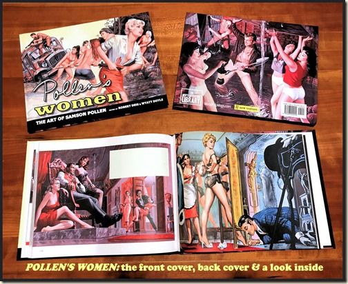 POLLEN'S WOMEN book - front, back & inside bd