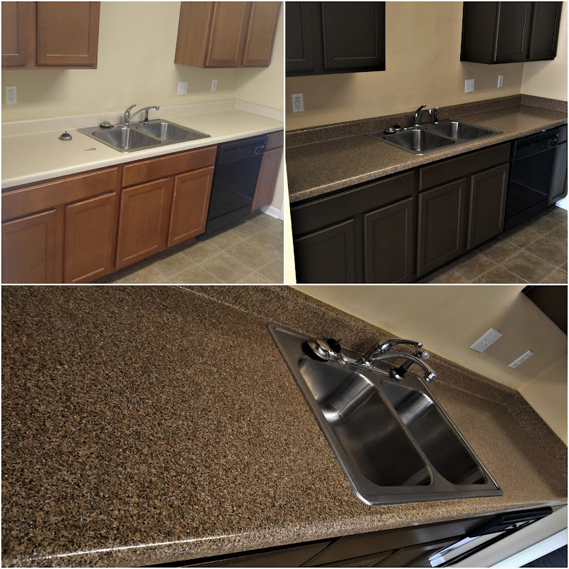Countertop Refinishing Kitchen Resurfacing Or Repairs On Damaged Surfaces Tiled Backsplashes