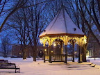 Gazebo at the holidays