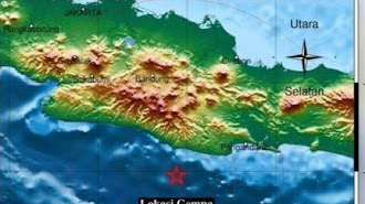 Baru Saja, Gempa Melanda Pangandaran Jawa Barat, BMKG Sebut Pusat Lindu di Kedalaman 20 Km