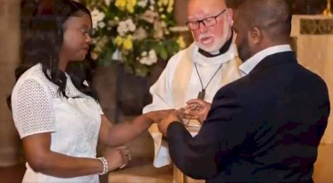 """""""Impossible is nothing"""" – Man says as he reties the knot with woman after 10 years of divorce"""