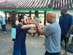 Sifu Sorwar Ahmed and Sifu Derek training POON SAU LOK SAU.
