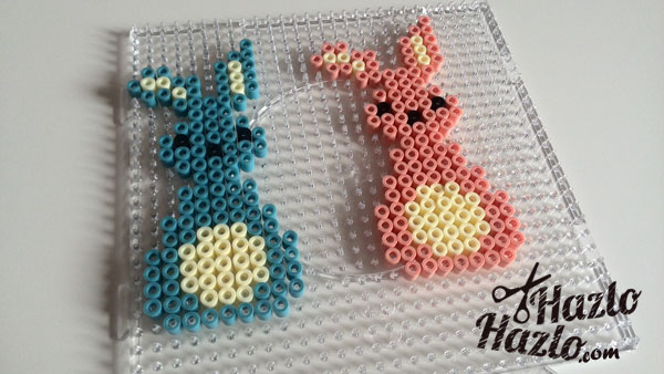 Hama Beads conejos