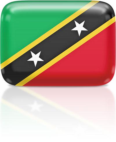 Kittitian flag clipart rectangular