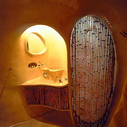 Interior de casa orgánica