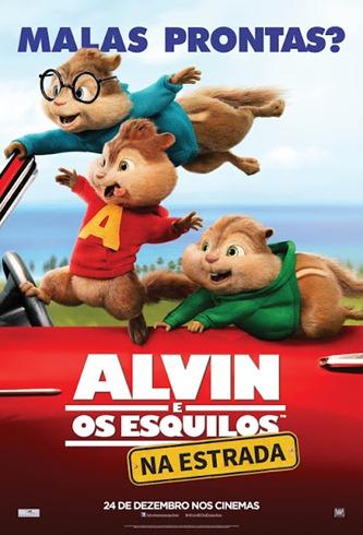 Alvin e os Esquilos - Na Estrada - Pôster