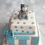 Grey teddy Christening cake 3.JPG