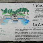 Canal du Loing : plaque d'information