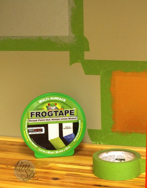 Using frog tape for stenciled wall