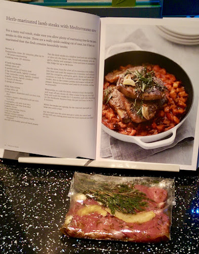 Marcus Wareing, Marcus At Home, Cook book, cookbook, HarperCollins, Lamb steaks, Mediterranean stew